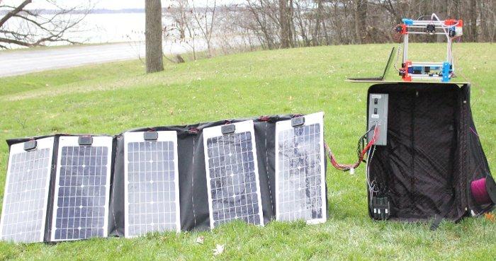 stampante 3d solare portatile basso costo