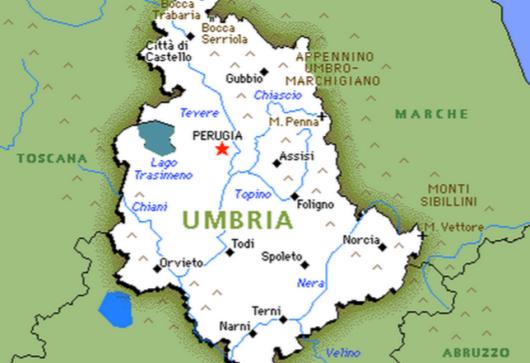 cartina dellumbria con tutti i comuni - photo#1